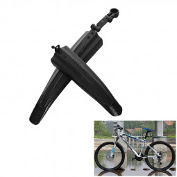 2Pcs Bicycle Cycling Front/Rear Mud Guards Set Mountain Bike Tire Fenders - Black