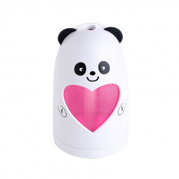 Mini USB Air Humidifier Silent Ultrasonic Diffuser Mist Maker with Colorful Changing LED Light - White Panda