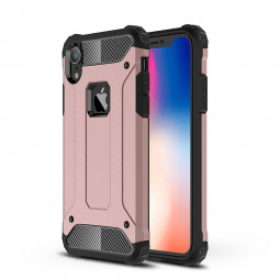 Rugged Armor Shockproof Case Slim Hybrid TPU+PC Protective Back Cover Shell for iPhone XR - Rose Golden