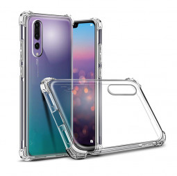 Four Corners Bumper Clear TPU Case Slim Soft Silicone Shockproof Back Cover for Huawei P20 Pro