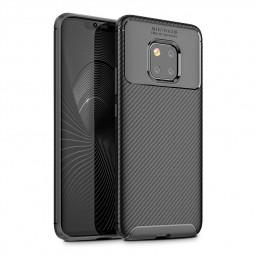 Slim Carbon Fiber TPU Case Anti-Scratch Soft Rubber Shockproof Back Cover for Huawei Mate 20 Pro - Black