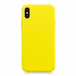 Ultra Thin Soft TPU Case Pure Color Rubber Gel Phone Cover for iPhone XS MAX - Yellow
