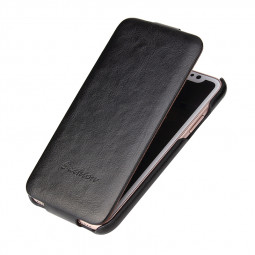 Soft Flip PU Leather Case Cover Full Protective Shell for iPhone X - Black