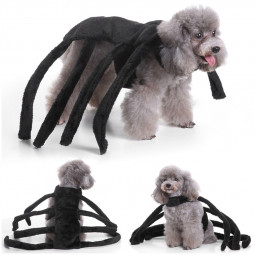 Spider Costume Pet Dog Cat Cosplay Clothes Halloween Fancy Dress Size S