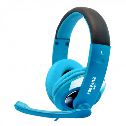 3.5mm Gaming Headset Headphones Stereo MIC for PC Laptop Game Computer - Blue