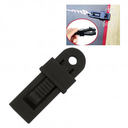 Outdoor Tent Awnings Windproof Fixing Clip Multifunctional Wind Rope Buckle - Black