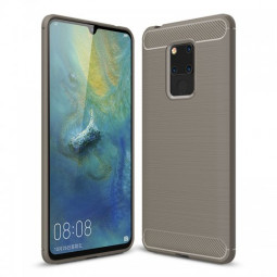 Shockproof Soft TPU Carbon Fiber Phone Case Protection Cover for Huawei Mate 20X - Grey