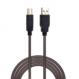 10M USB 2.0 High Speed Belt Shield Printer Copper Line USB Printer Extension AM to BM Black Cable with Magnetic Ring