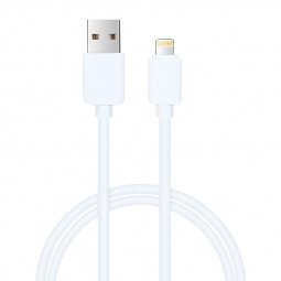 USB Charging Data Cable TPE Power Line 8pin Cord for iPhone iPad - White