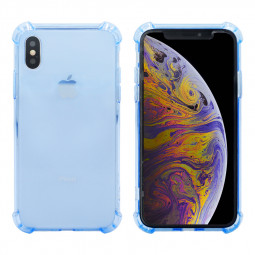 TPU Rubber Soft Skin Silicone Protective Case Phone Cover for iPhone XS Max-Blue