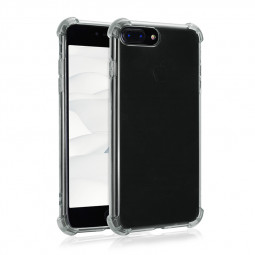 Thicken TPU Rubber Shockproof Case Soft Silicone Protective Case for iPhone 7/8 Plus - Black