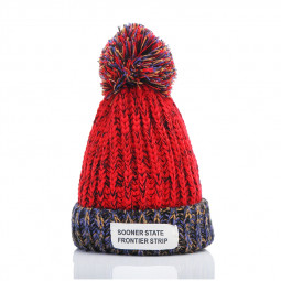 Women Lady Knitted Hat Winter Warm Beanie Fashion Cap for Adult - Red
