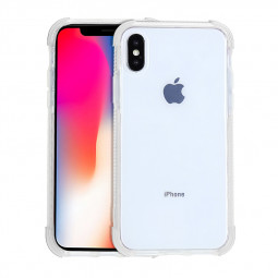 Soft Ultra Slim TPU Phone Case Transparent Protective Cover for iPhone XS Max - White