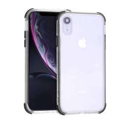 Thin Slim Soft TPU Phone Cover Crystal Clear Protective Case for iPhone XR - Black