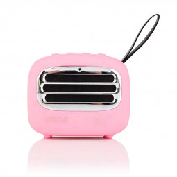 F01 Vintage Creative Portable Subwoofer Audio Radio Mini Wireless Bluetooth Speaker - Pink