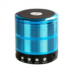 WS887 Mini Wireless Bluetooth Speaker with FM Function Built-in Li Battery - Blue