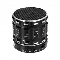S28 Alloy Portable Wireless Bluetooth Stereo Speaker Support FM Radio Microphone AUX - Black