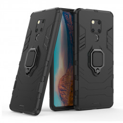 Magnetic Ring Rugged Black Panther Armor Phone Case Shockproof Holder Case Cover for Huawei Mate 20X - Black