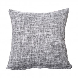 45x45cm Simple Modern Style Linen Cushion Case Square Home Sofa Car Nap Pillow Cover - Grey