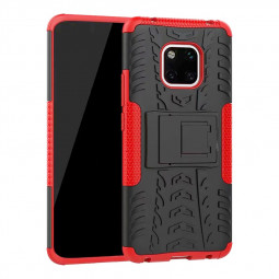 TPU + PC Rugged Hybrid Armor Phone Protective Case for Huawei Mate 20 Pro - Red