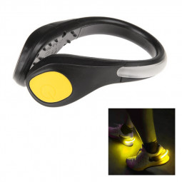 Outdoor Sport Night Running LED Luminous Shoe Band LED Glowing Arm Clip Bicycle Safety Warning Light - Yellow