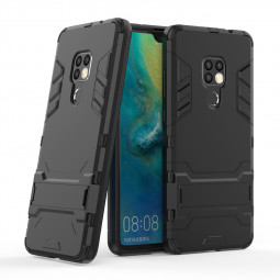Iron Man Hybrid Rugged Armor Matte Stand Phone Case Cover for Huawei Mate 20 - Black