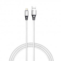 Data Sync 8pin Charging Cable Nylon Braided Cable for iPhone - Silver