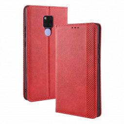 Flip Leather Case Wallet Stand Protective TPU Phone Case for Huawei Mate 20 - Red