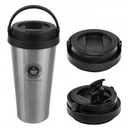 500ml Fashionable Travel Portable Stainless Steel Coffee Cup Vacuum Insulation Water Bottle - Silver