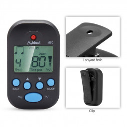 Mini Professional Electronic Metronome Digital LCD Clip-on for Piano Guitar Violin - Black