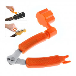 3 in 1 Guitar Tool Guitar String Winder + String Cutter + Pin Puller Instrument Accessories - Orange