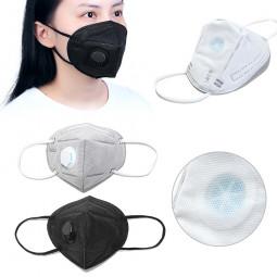 Dust Masks FFP2 Valved Fold Protective Safety Face Mask - Grey