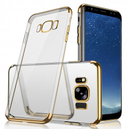 Thin Soft TPU & Plating Phone Protection Case for Samsung Galaxy S8 - Gold