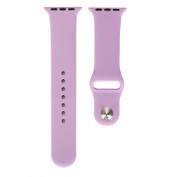 Soft Sport Sillicone Rubber Watchband Watch Strap for Apple iWatch 38mm - Purple