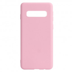 Candy Colour Matte Surface TPU Back Cover Phone Case for Samsung Galaxy S10 - Pink