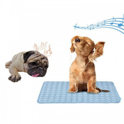 Non-slip Summer Pet Bed Cooling Mat for Dog and Cat Car Seat Pad for Home Travel Use Blue - 50*40cm