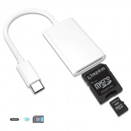 USB 3.1 Type C USB-C to SD SDXC Card Camera Reader Adapter
