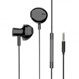 3.5mm Plug Universal In-Ear Stereo Headset Earphone Bass Earphone - Black/1.2m