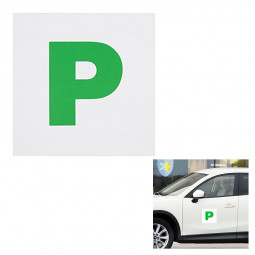 2pcs Fully Extra Strong Magnetic Exterior Car P Plate Sticker for New Learner Driver Just Passed