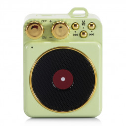 Elvis Retro Wireless Bluetooth Speaker Portable Subwoofer Creative Loudspeaker Audio Speaker Gift Support TF USB - Green