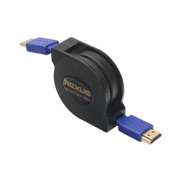 Retractable Flexible HDMI Cable Male to Male Flat HDMI V1.4 Cable - 1.8M