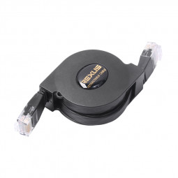 Retractable Ethernet Network Router Network Cable Cat6 Full Copper Flat Scalable 1Gbps LAN Cord - 1M