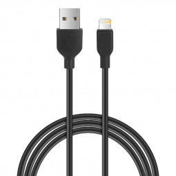 Apple 8pin Charging Cable iPhone Soft Durable TPE Charger Cable - Black