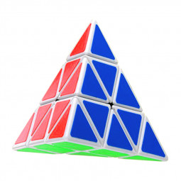 Classic Professional Pyramid Third-order Magic Cube Puzzle Educational Decompression Triangle Cube - White