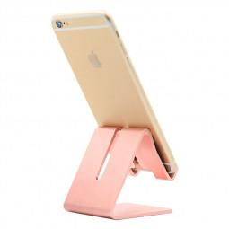 Universal Aluminum Desk Holder Stand Charging Stand for Cellphone Tablet - Rose Gold