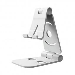 Portable Desk Mount Holder Stand Mobile Phone Bracket for Cellphone Tablet iPad - Silver
