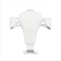 Car Air Vent Phone Holder Stand Gravity Sensor Lazy Mobile Phone Clip - White