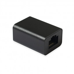 Cat6 RJ45 Female to Female Connector Network Jack In-Line Coupler - Black