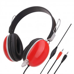 Wired Stereo Headset With Noise Cancelling Mic Soft Gaming Headset Headphones - Red
