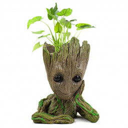 Cute Model Toy Pen Pencil Holder Tree Man Groot Flowerpot Hand Ornaments